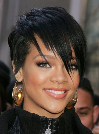 2013 Short Black Hairstyles for Round Faces