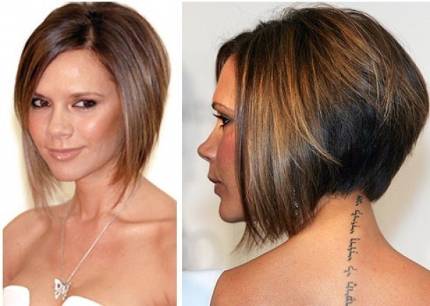 Beautiful Short Angled Bob Hairstyles 2013