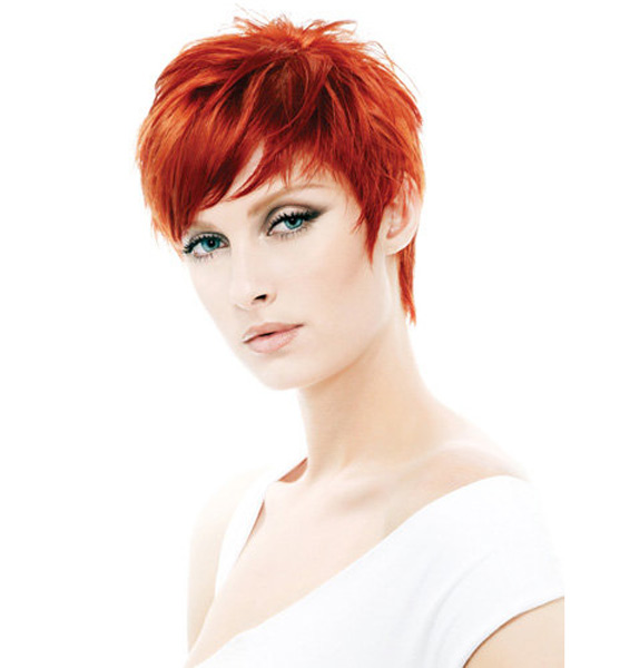 Red Hair Color for Short Pixie Hairstyles