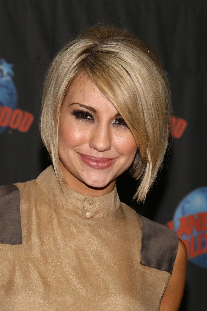 Short Angled Bob Hairstyles with Side Bangs