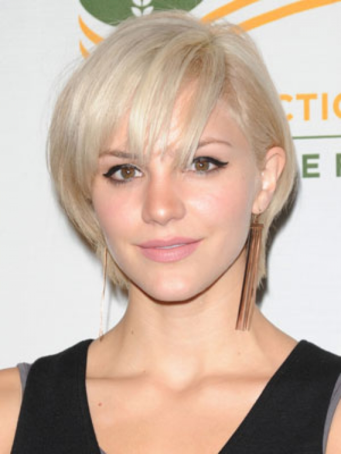 Short Blonde Straight Bob Hairstyles