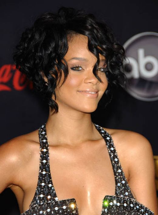 Short Curly Black Hairstyles for Round Faces