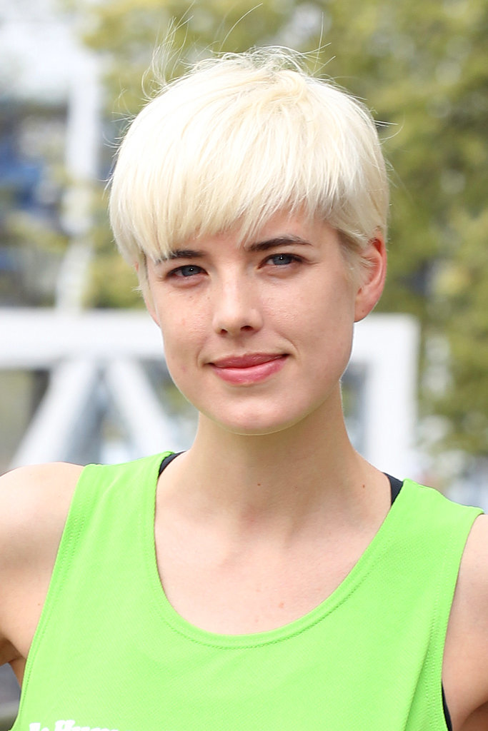 Agyness Deyn with Short Pixie Hairstyles