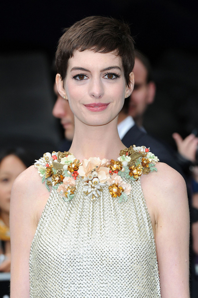 Anne Hathaway Super Short Pixie Haircuts