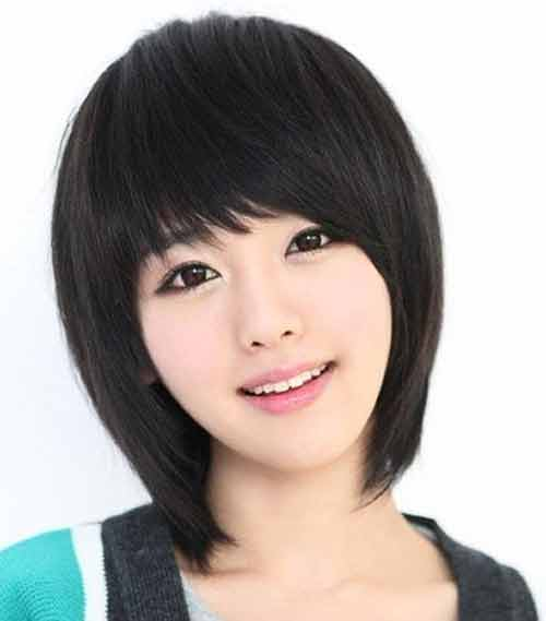 Asian Short Hairstyles With Bangs For Women