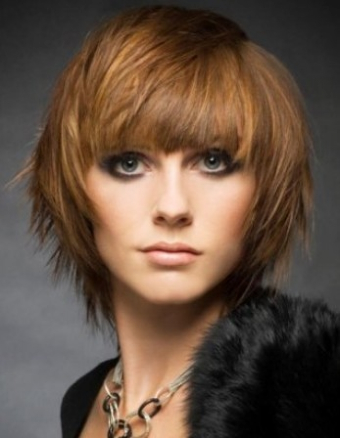 Short Choppy Layered Bob Haircuts