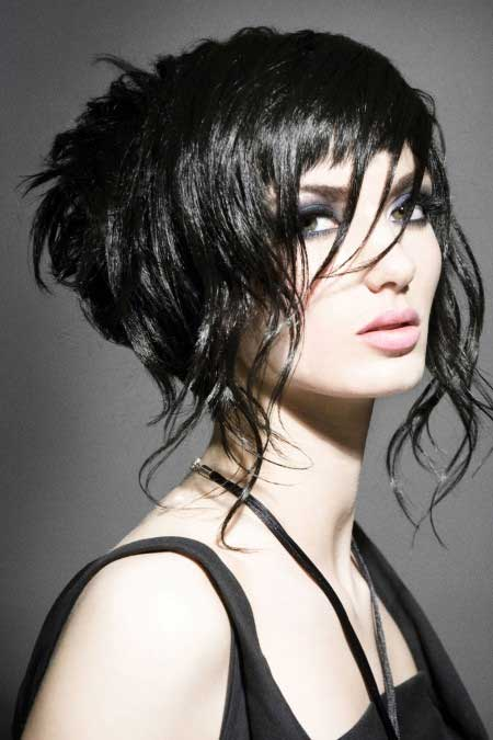 Short Curly Choppy Bob Hairstyles for Black Hair