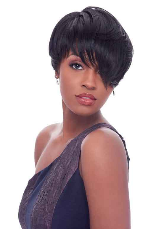 Cute Short Haircuts with Bangs 2014 Short-Haircuts-with-Bangs-for-Black-Women