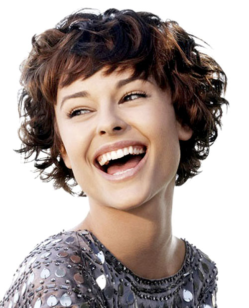 Short Haircuts with Bangs for Curly Hair