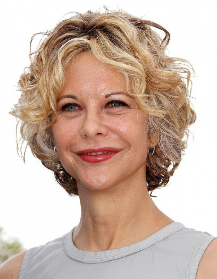 Short Hairstyles for Older Women with Thick Wavy Hair 2014