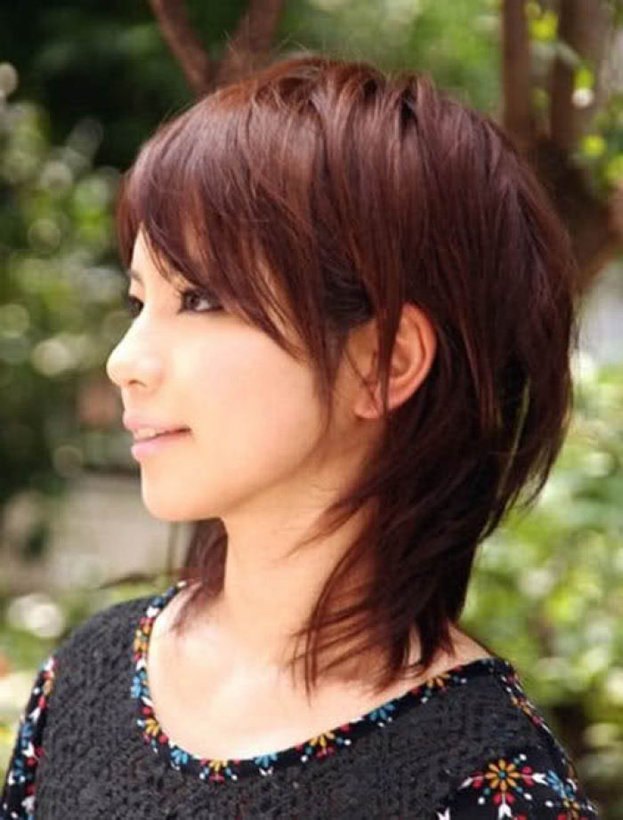 Short Layered Haircuts with Side Fringe