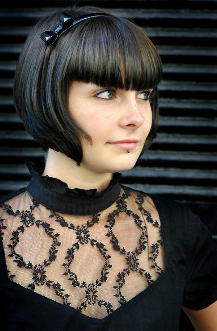 Trendy Short Haircuts with Bangs