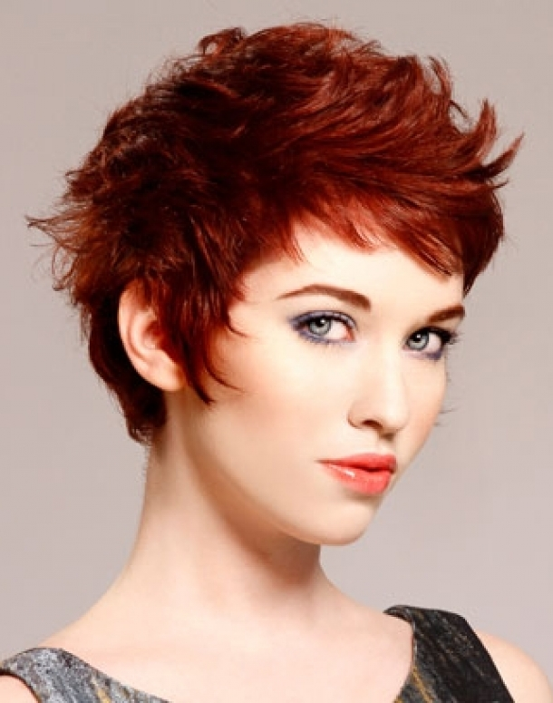 Cute Short Red Hairstyles for Women 2013-Funky-Short-Red-Hairstyles