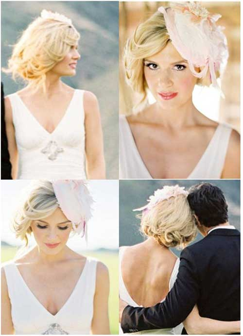Beautiful Bridal Hairstyles for Short Hair