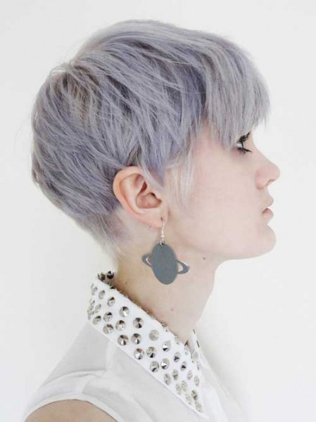 Lilac Color Ideas for Short Hair