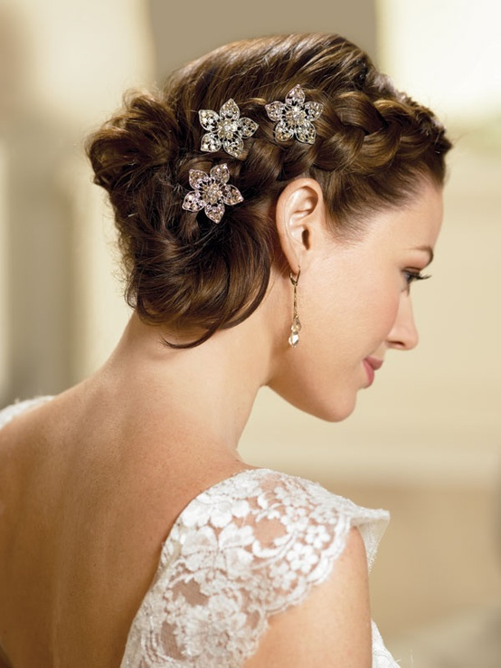 New Bridal Hairstyles For Short Hair 2013