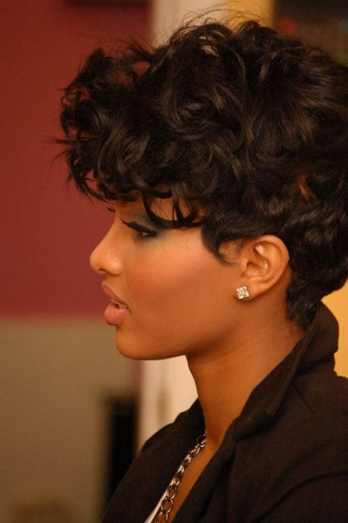 Trendy Short Curly Haircuts for Women Trendy-Short-Black-Curly-Haircuts