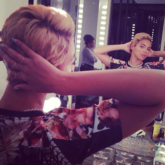 Beyonce Knowles New Short Blonde Hairstyles