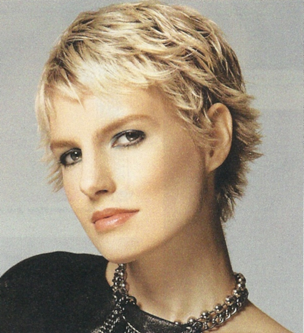 Cute Blonde Short Shag Hairstyles
