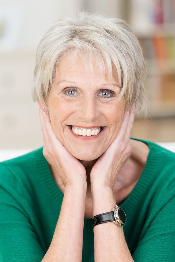 beautiful short thick hair for older women 5