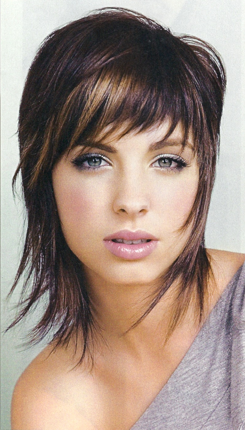 Cute Wispy Medium Length Shag Hairstyles