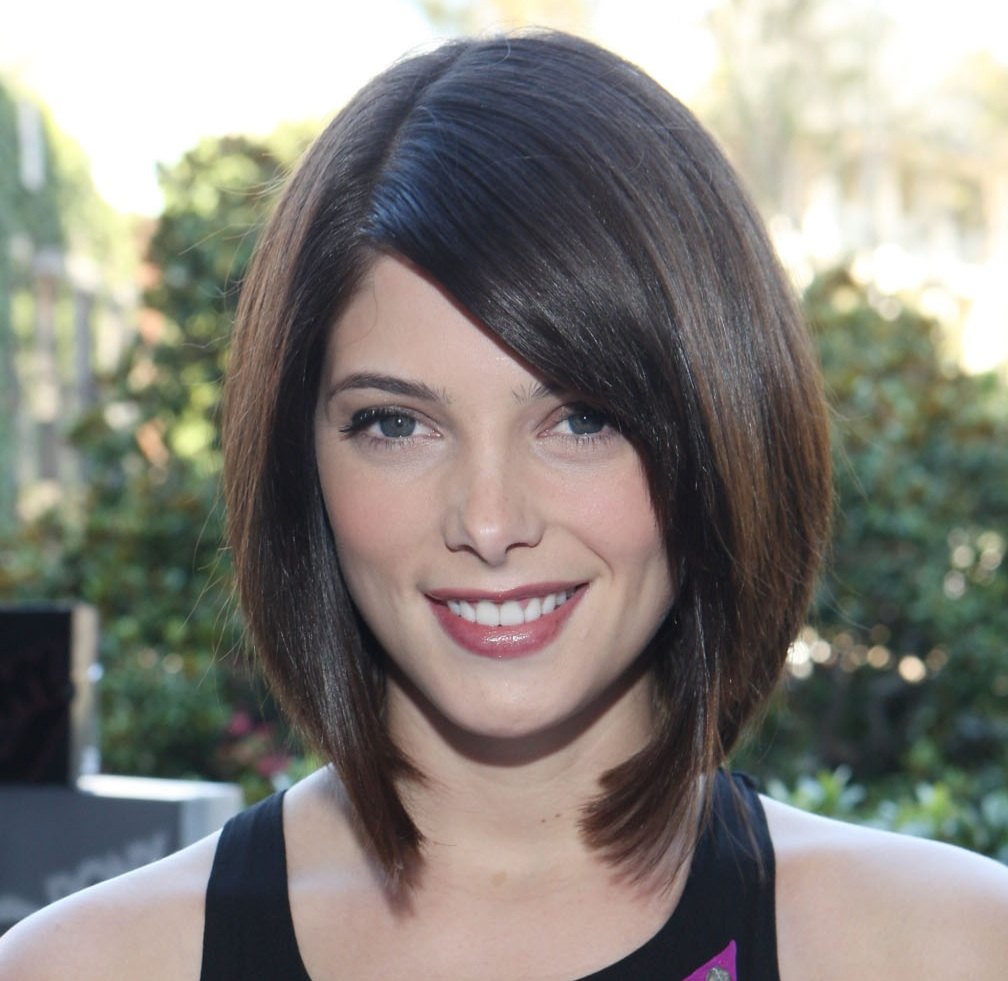 Medium Hairstyles For Short Hairstyles Thick Hair Round Face