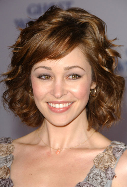 New Short Layered Wavy Haircuts 2013