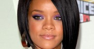 RIHANNA With Inverted Bob Hairstyles For Fine Hair