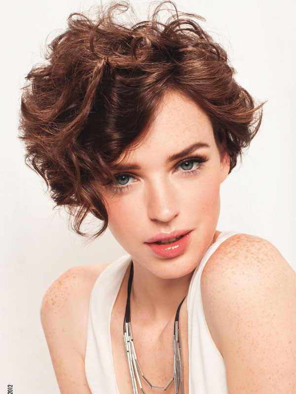 Short Curly Hairstyles For Long Faces