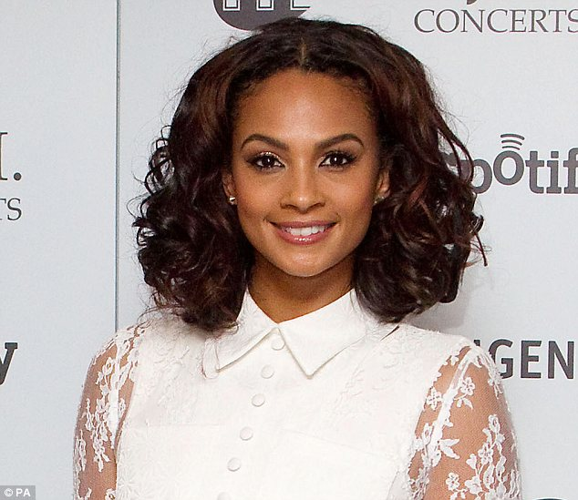 Alesha Dixon with Short Curly Bob Hairstyles