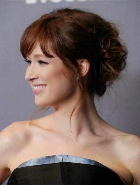 Cute Updos for Short Hair with Bangs