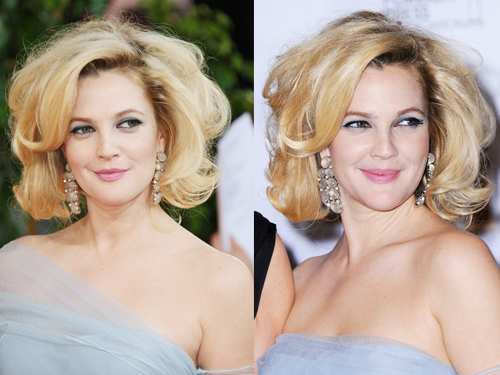 Drew Barrymore with Short Curly Bob Hairstyles