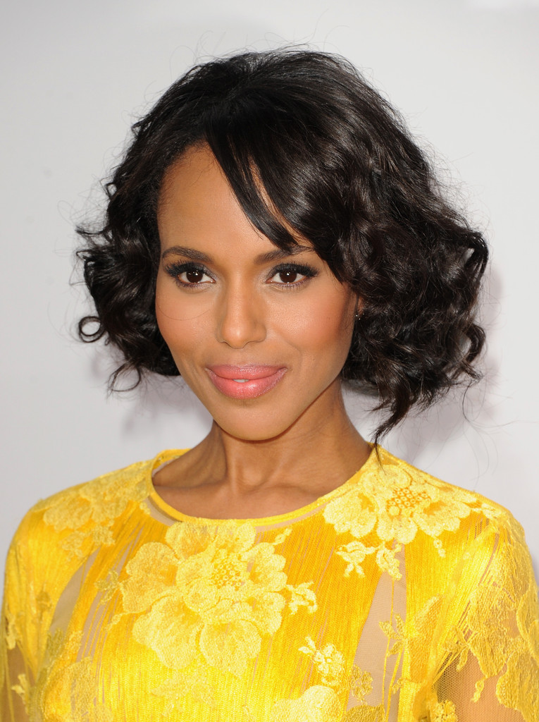 Kerry Washington Short Curly Bob Hairstyles