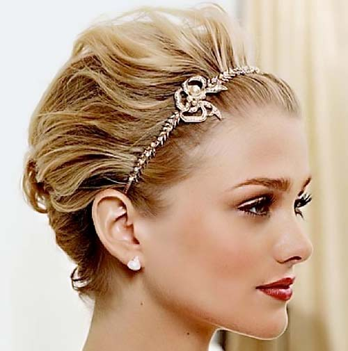 Short Bridesmaid Updos Hairstyles