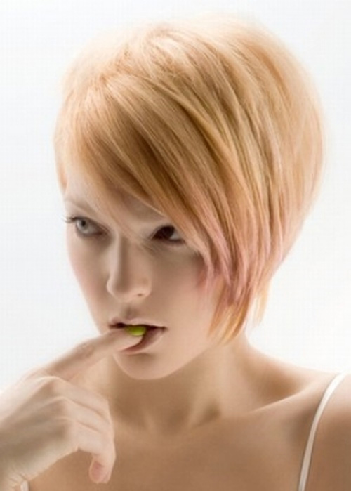 Short Layered Angled Bob Hairstyles 2014