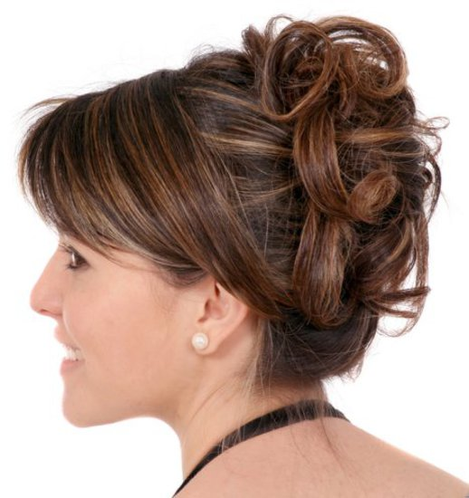 Updo Hairstyles For Short Hair Back View