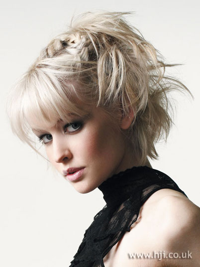 Updo Hairstyles For Short Hair With Bangs