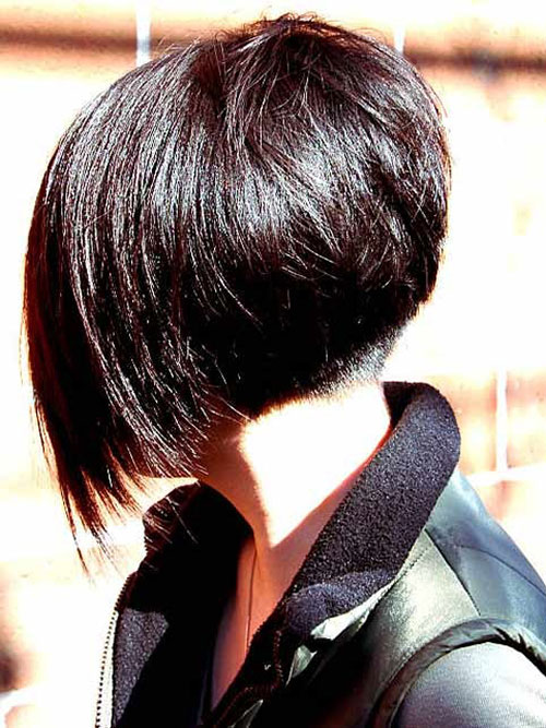 Very Short Angled Bob Hairstyles