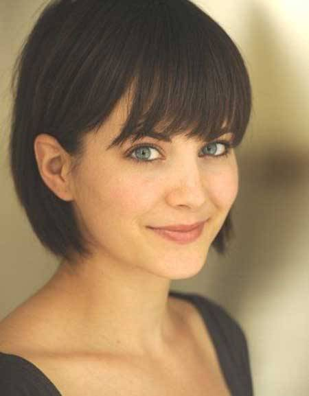 Beautiful Short Bob Haircut with Bangs