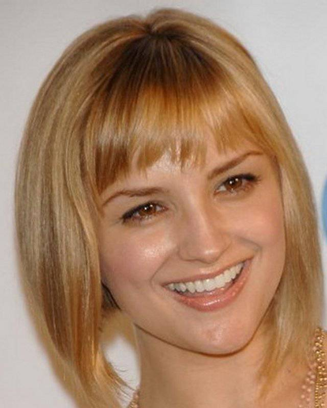 Classic Short Bob Haircut with Bangs