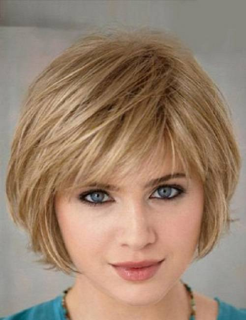 2014 Short Bob Haircut with Bangs