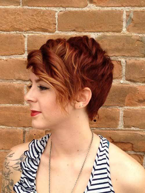 2014 Short Curly Pixie Hairstyles For Women