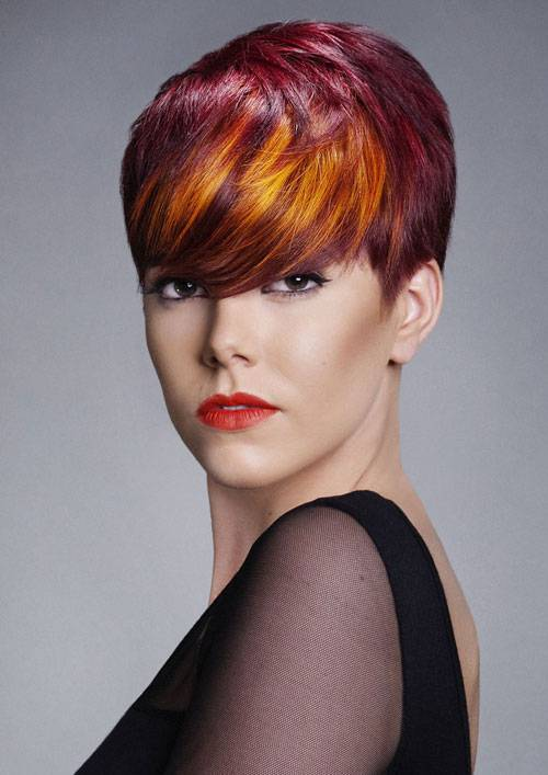Ombre Red Hair Color For Short Hair