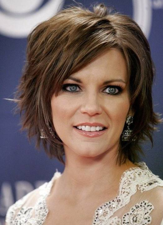 Pictures of Short Layered Hairstyles for Thick Hair