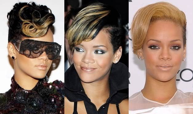 Beautiful Short Weave Hairstyles 2014 Rihanna-Short-Weave-Hairstyles