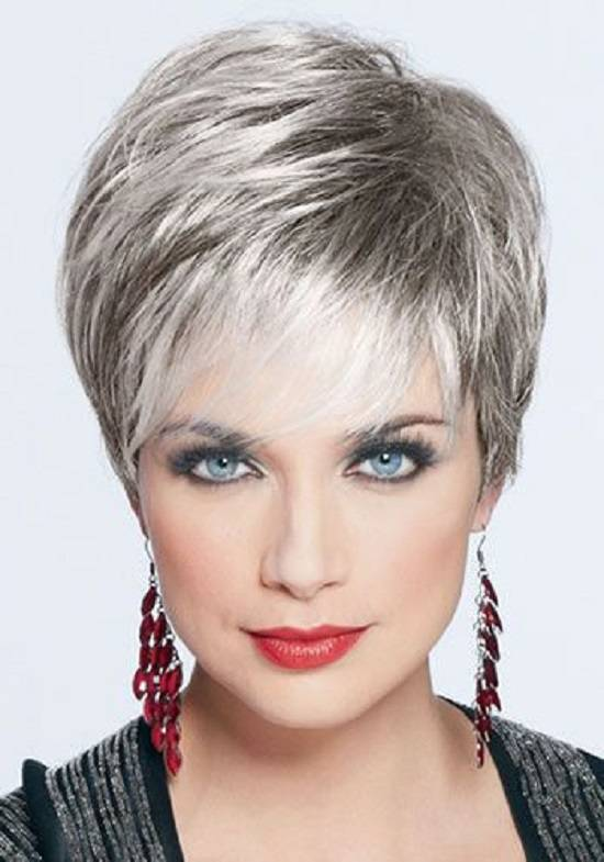 Best Short Hairstyles for Gray Hair Cute-Short-Hairstyles-for-Gray-Hair