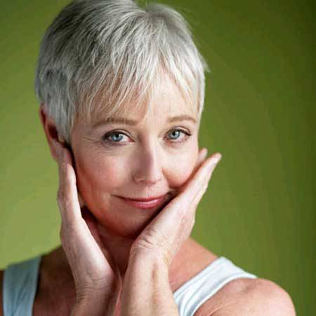 Best Short Hairstyles for Gray Hair Short-Gray-Hair-For-Beautiful-Women