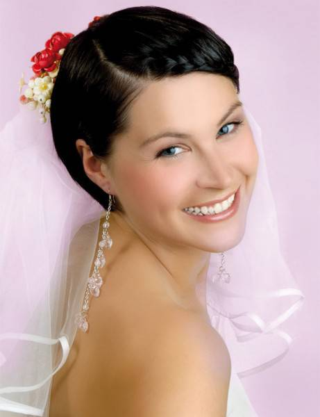 Short Wedding Hairstyles with Black Hair