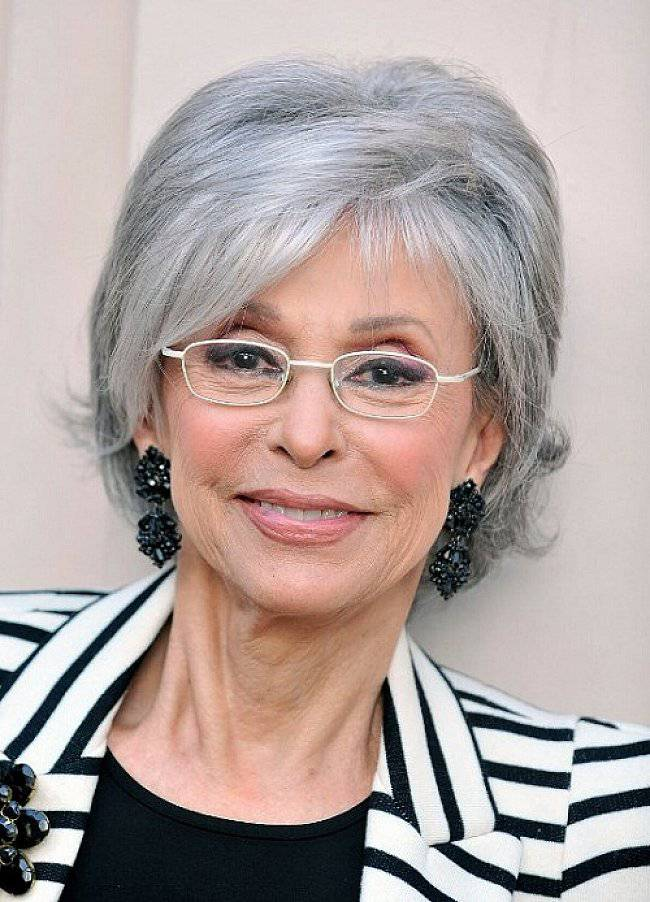 Best Short Hairstyles for Gray Hair short-hairstyles-for-gray-hair-and-glasses