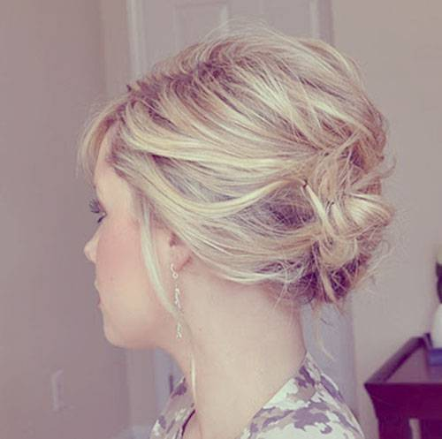 short updos for bridesmaids